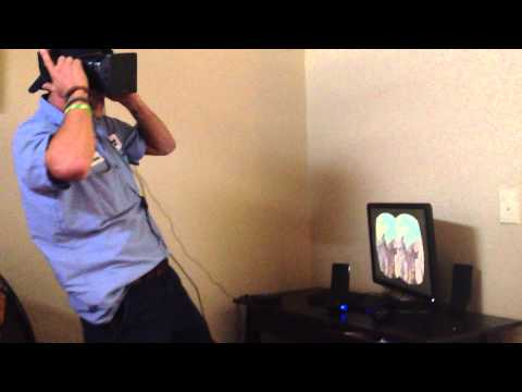 Video thumbnail for youtube video Guy Tries Virtual Reality Roller Coaster