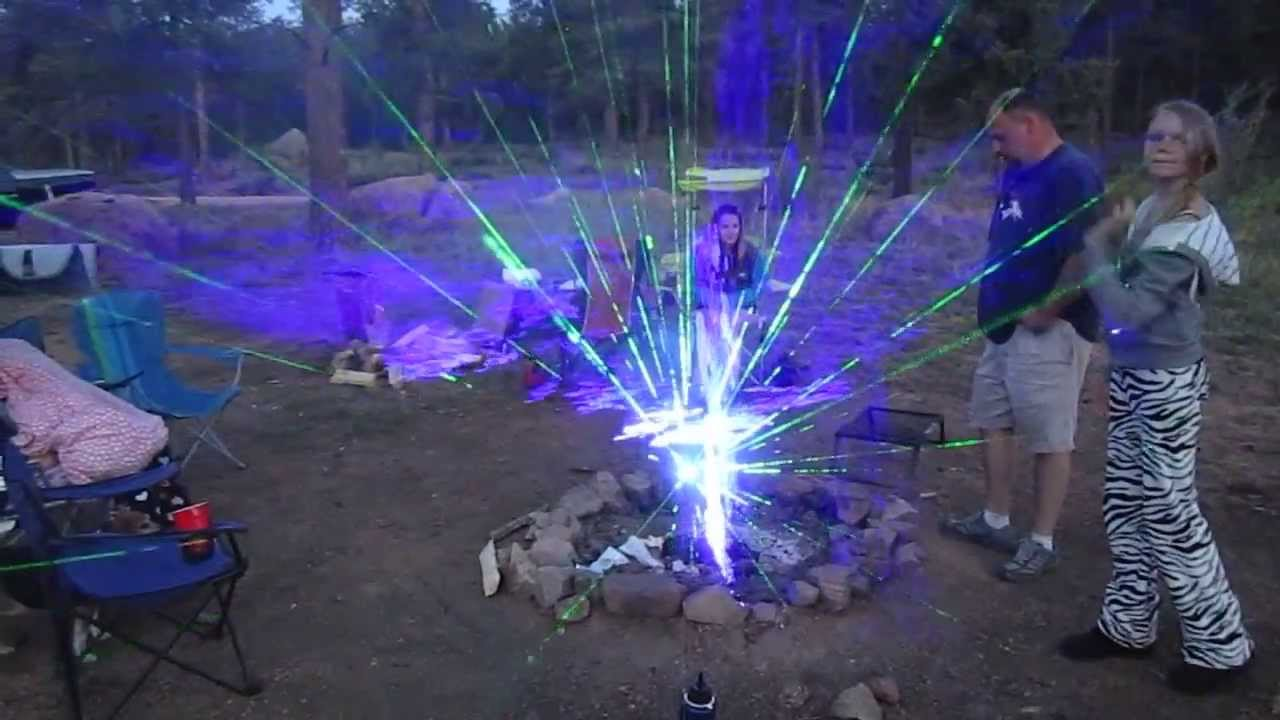 Shooting High Powered Lasers Into A Fire