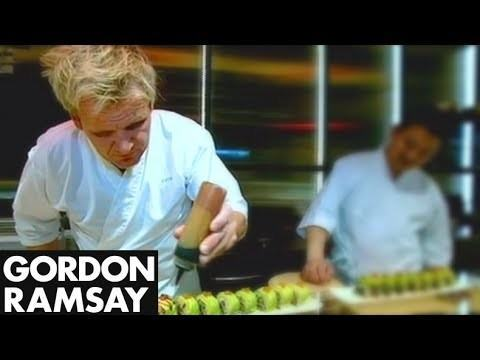 Gordon Ramsay Learns To Make Sushi