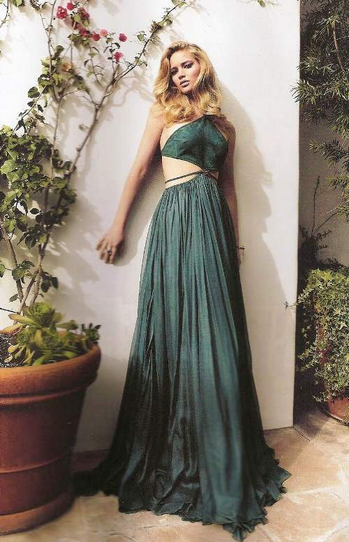 Jennifer Lawrence Pictures Green Dress