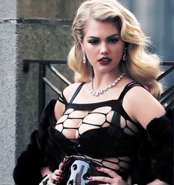 Kate Upton Busting Out Of A Tight Top