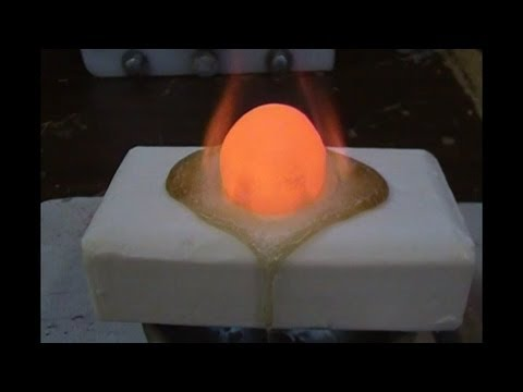 Putting A Red Hot Nickel Ball On A Bar Of Soap