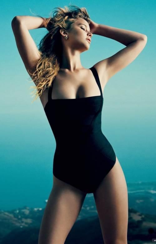 Sexiest Jennifer Lawrence Pictures Black Swimsuit