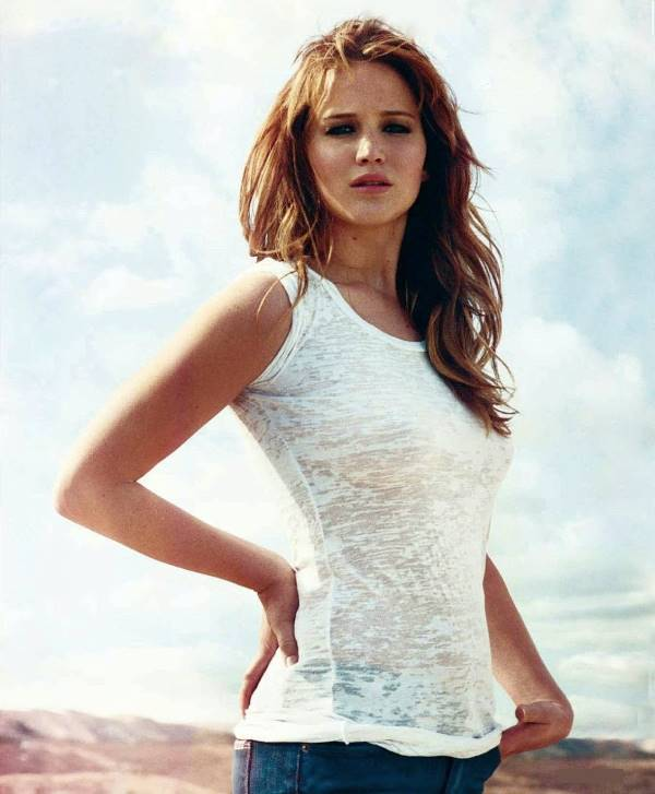 Sexiest Jennifer Lawrence Pictures See Through Shirt