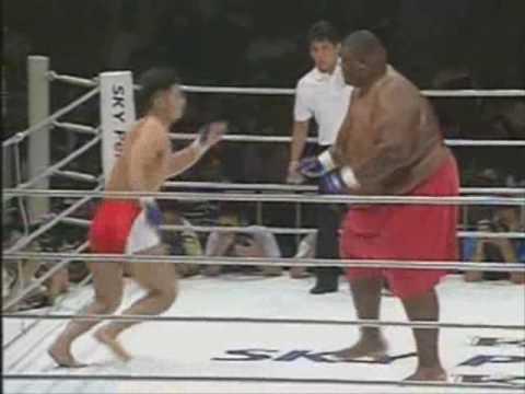 600 Pound Sumo Wrestler Versus 169 Pound MMA Fighter