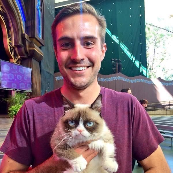 Grumpy Cat & Ridiculously Photogenic Guy