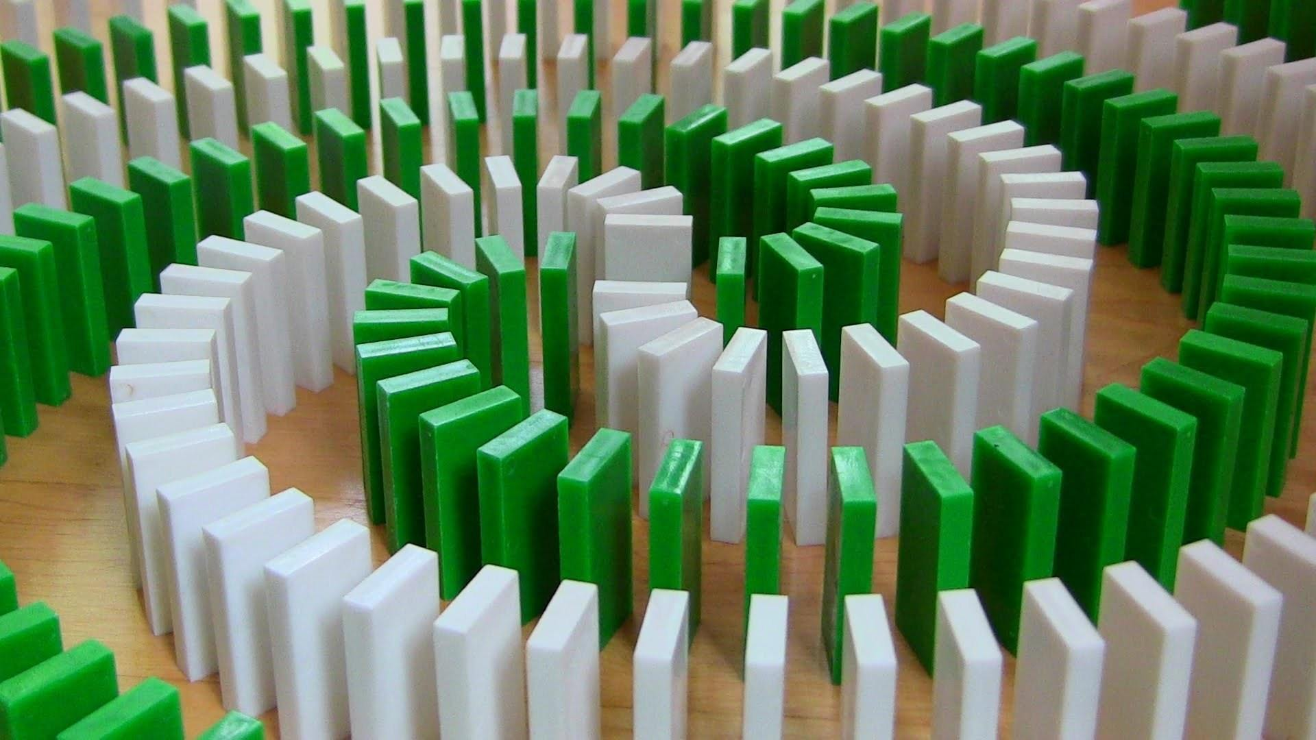 Unbelievable Domino Toppling Tricks