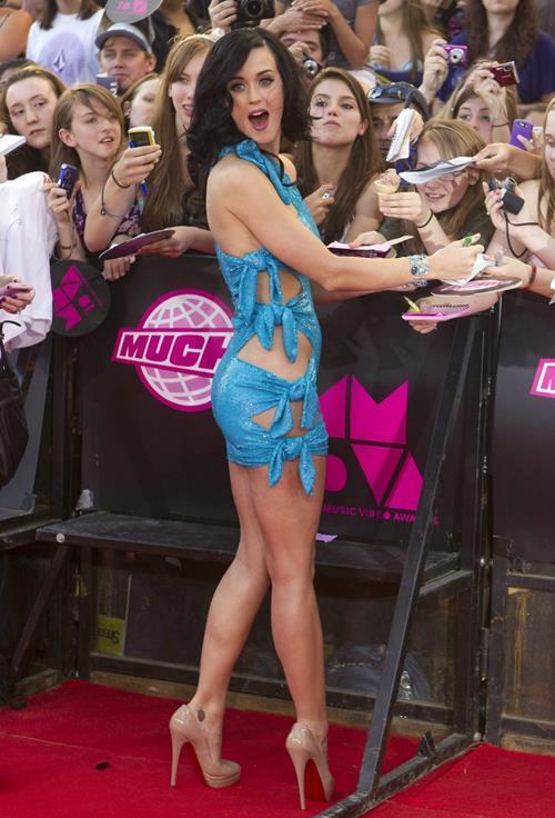 Katy Perry Shredded Dress