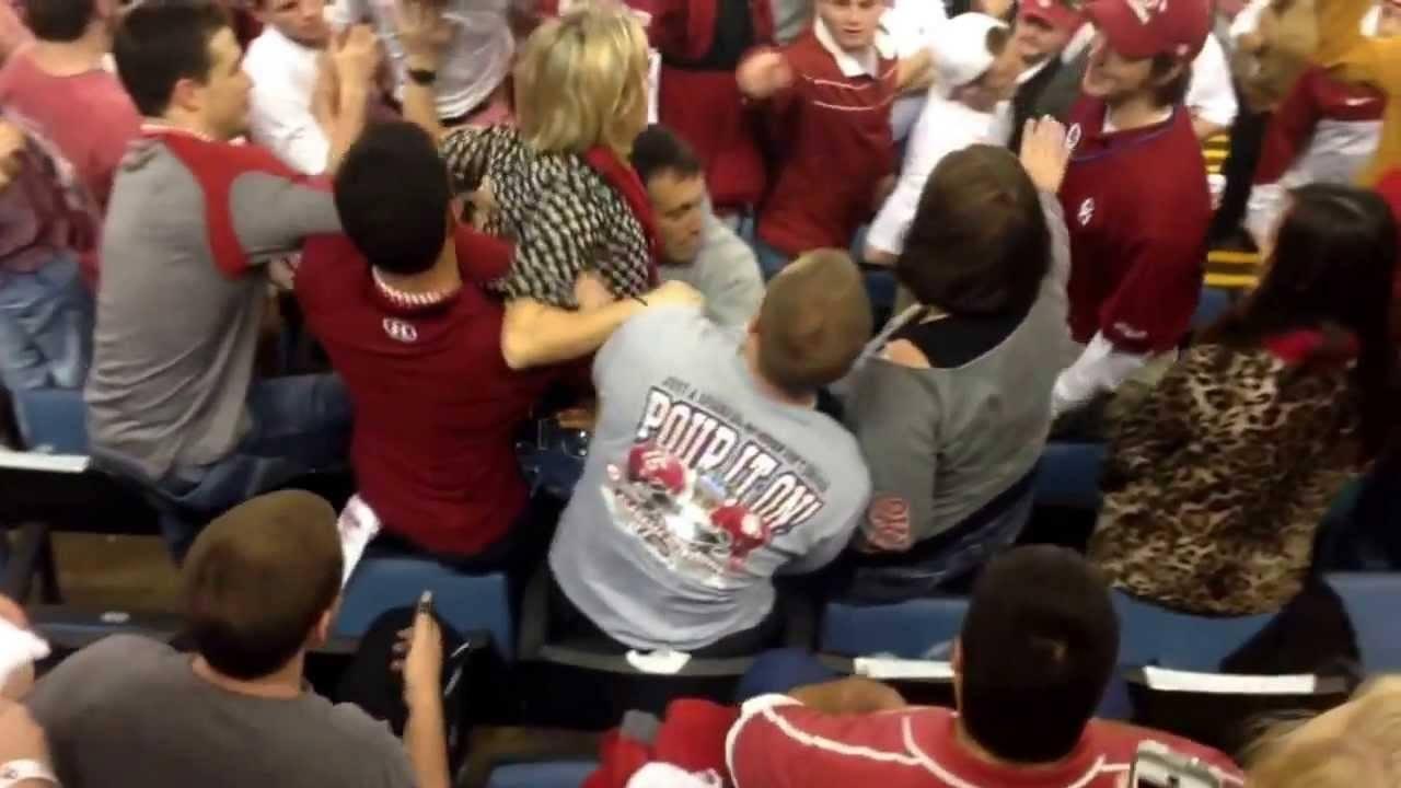Bama Fan Goes Superman On Oklahoma Fan