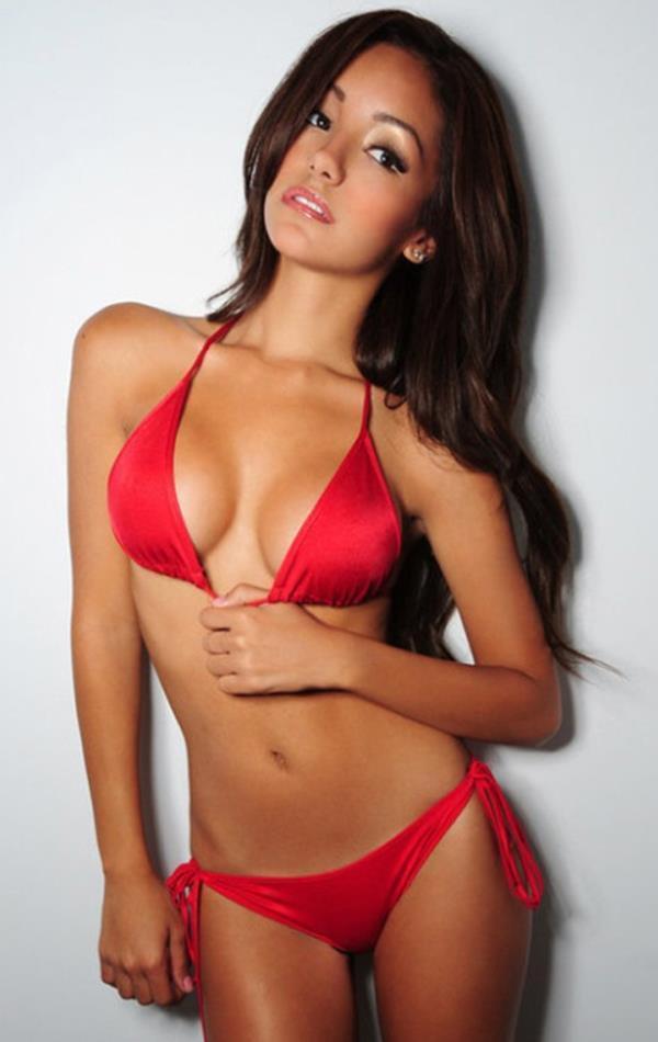 Melanie Iglesias Pictures Red Bikini