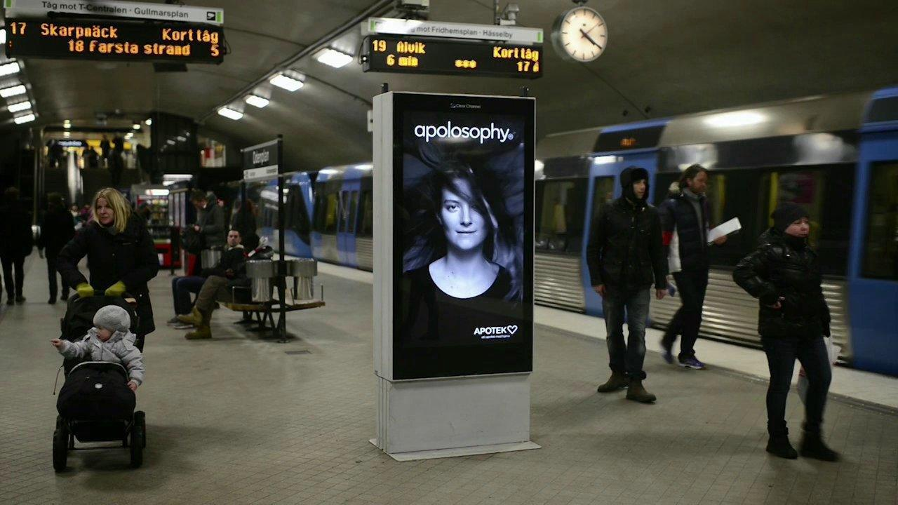 Incredible Ad In The Stockholm Subway