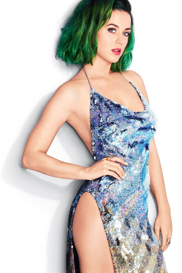 Katy Perry Green Hair