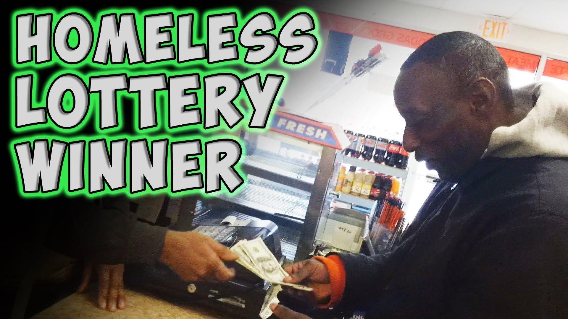 When A Homeless Man Receives A Winning Lottery Ticket