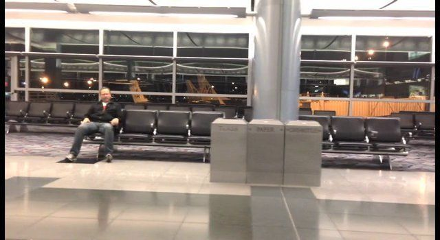 Guy Gets Trapped At Las Vegas Airport, Makes Epic Music Video