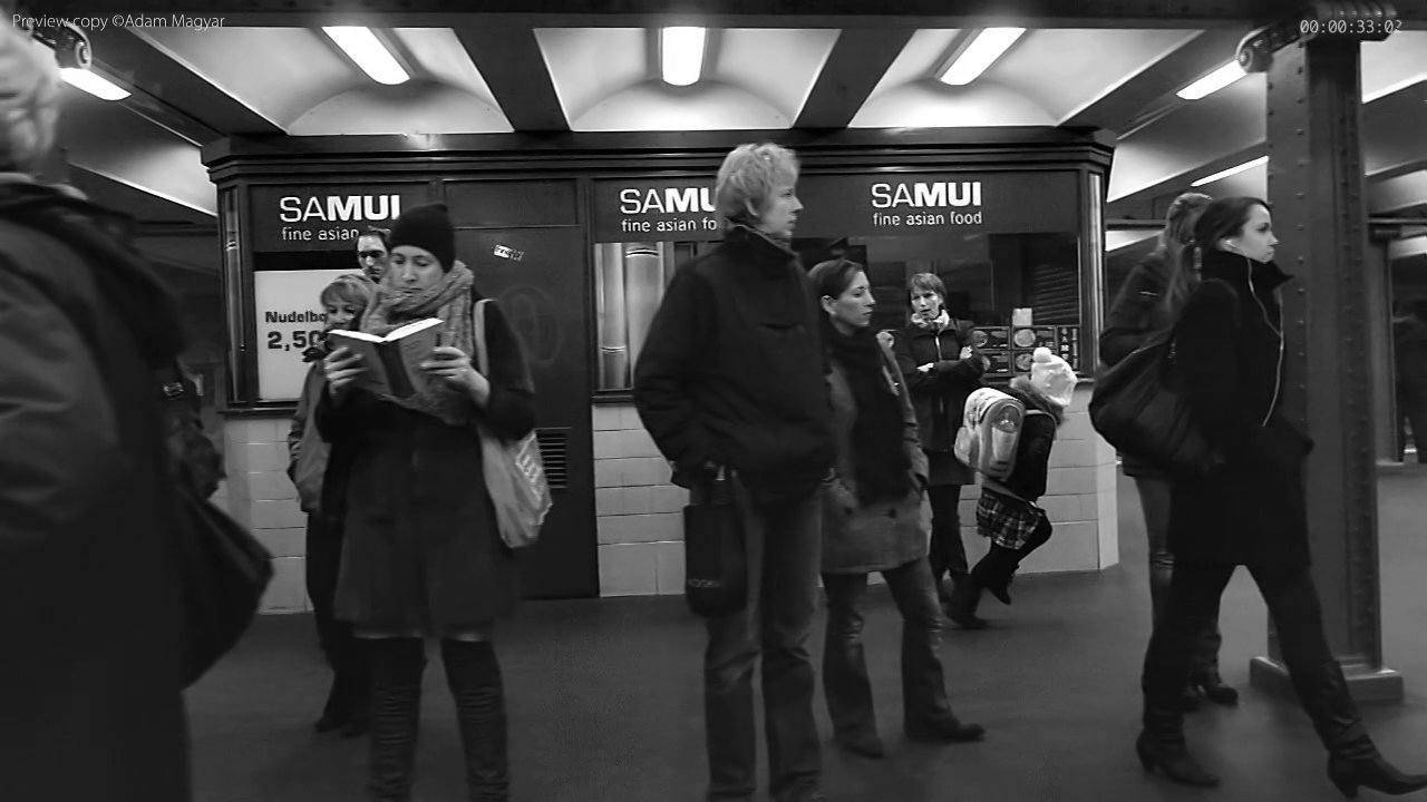 High Speed Camera Catches People Waiting For The Subway