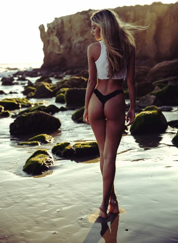 Blonde On The Beach