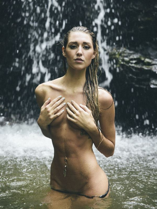 In The Waterfall