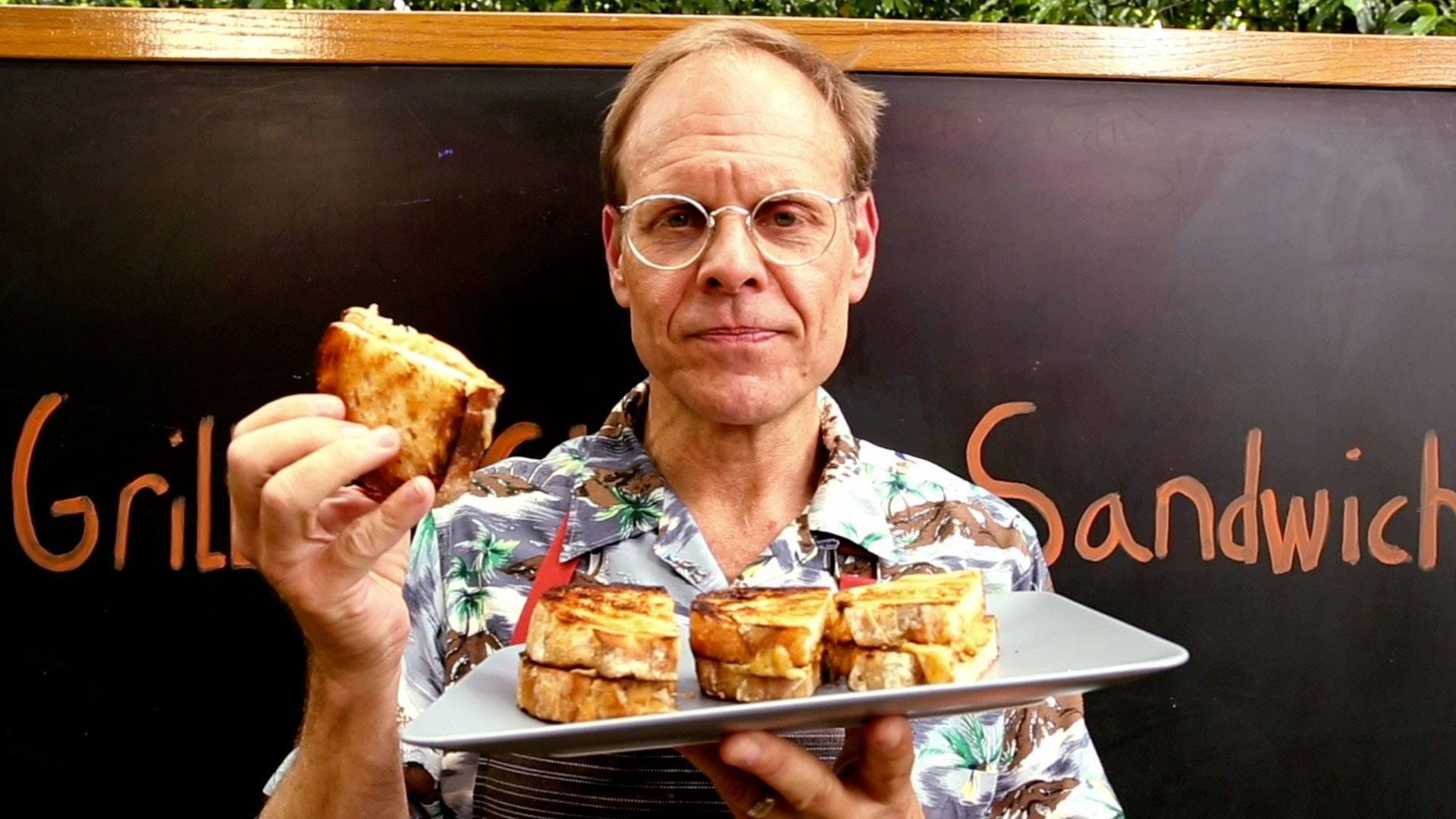 Alton Brown's Delicious Grilled Grilled Cheese