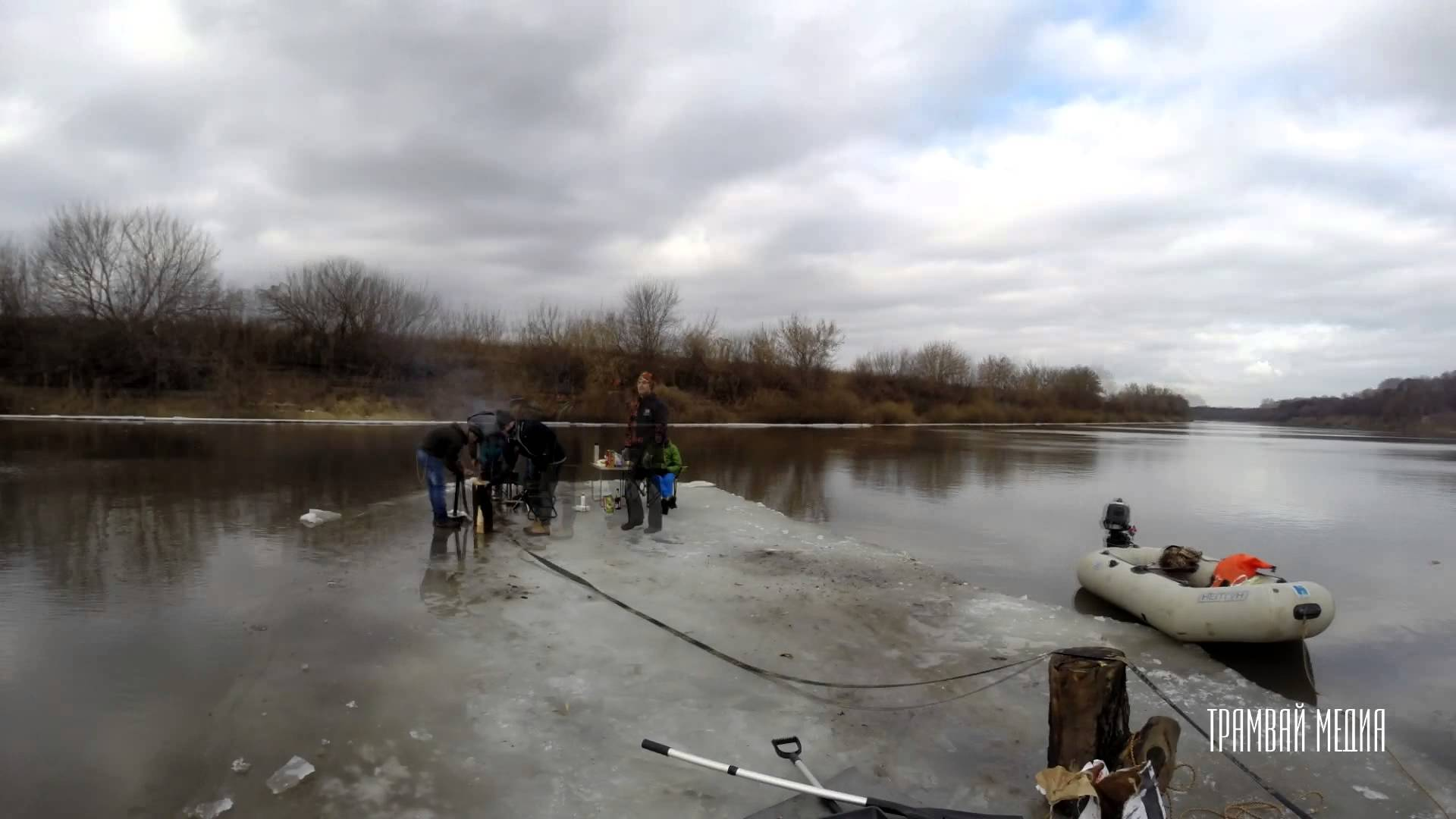 When In Russia, You Barbecue In The Middle Of A Lake