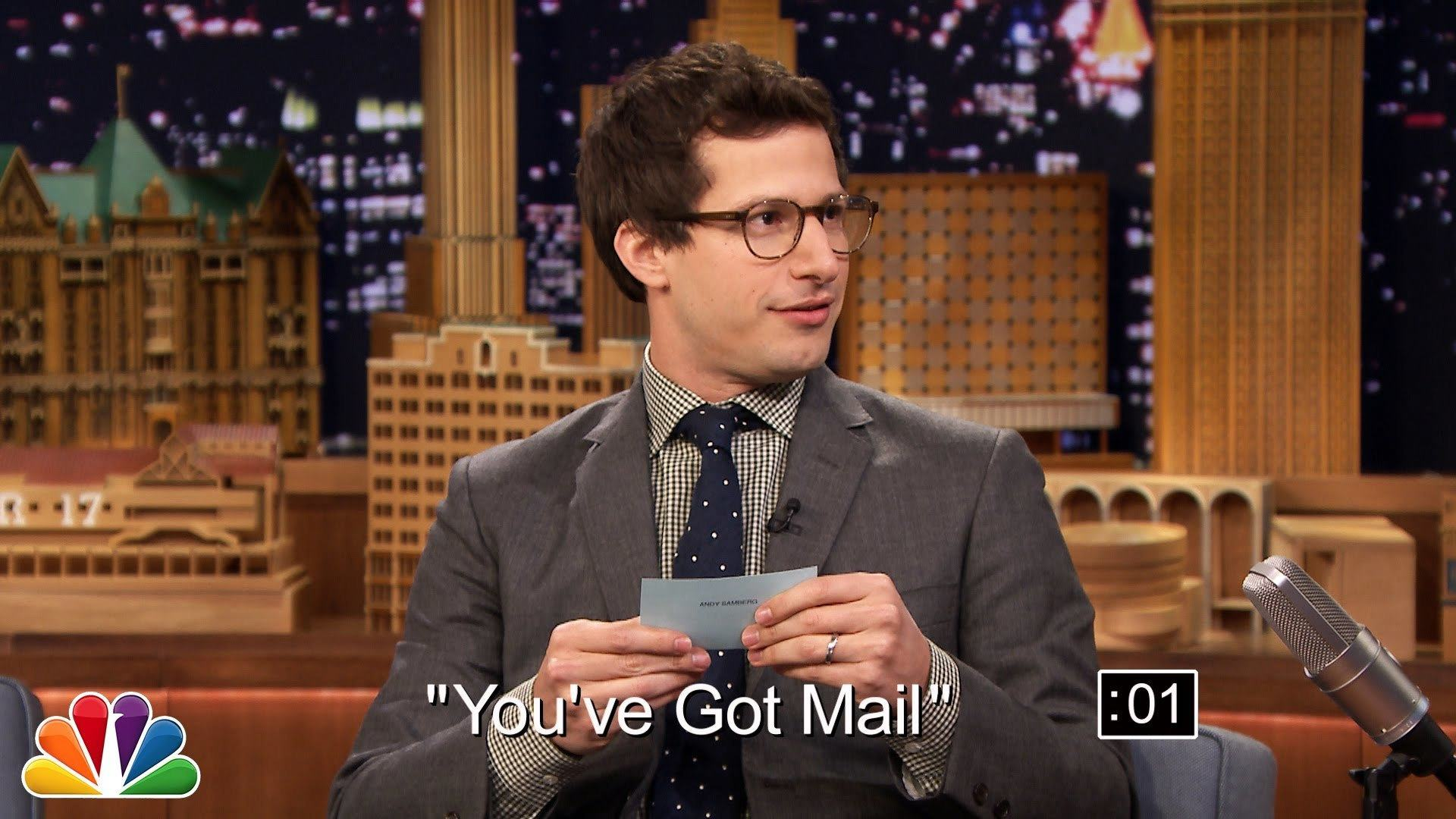 Andy Samberg Plays 5-Second Summary Game With Jimmy Fallon