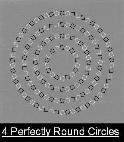 four-perfectly-round-circle - OPTICAL ILLUSIONS GALLERY - Facts and Trivia