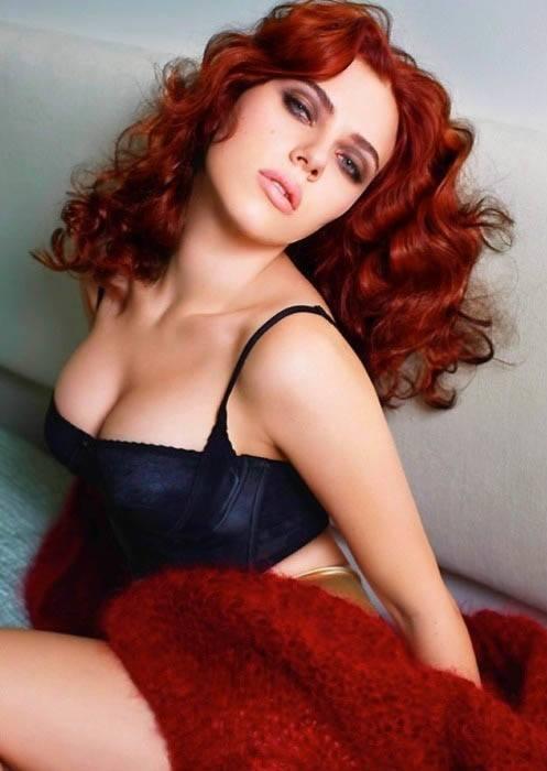 Scarlett Johansson As A Red Head