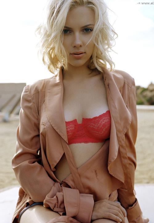Scarlett Johansson Bra