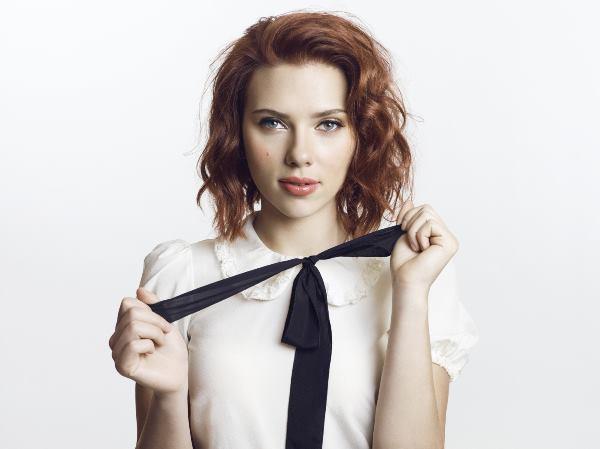 Scarlett Johansson Dressed As A School Girl