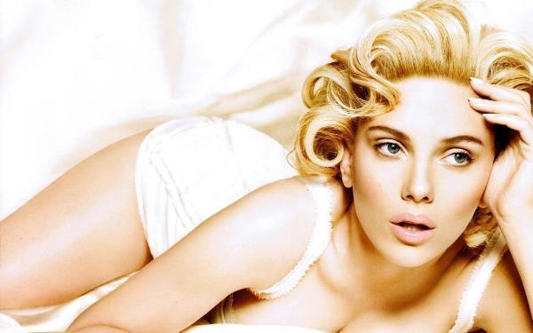 Scarlett Johansson White Background