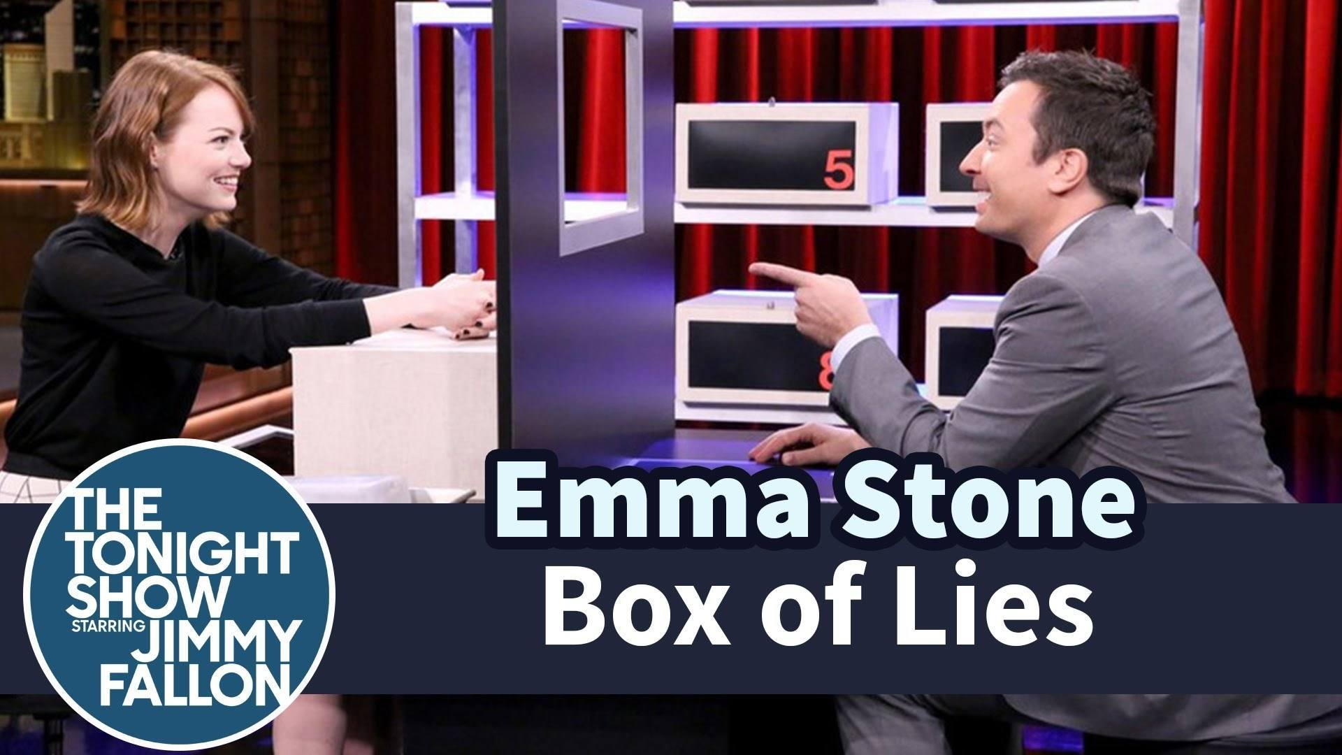 Emma Stone Proves She Is A Horrible Liar During Game Of Box Of Lies