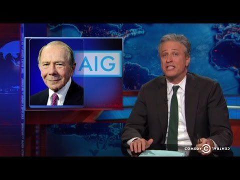 Jon Stewart Blasts Hank Greenberg For Crying Over AIG's $182 Billion Bailout