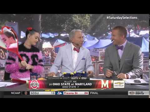 Katy Perry's Appearance On 'College Gameday' Is One For The Ages