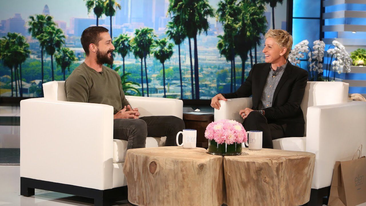 Shia LaBeouf Opens Up About Troubled History On Ellen Degeneres Show