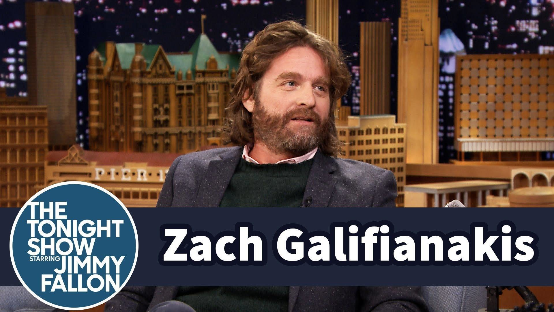 Zach Galifianakis Discovers His Sons Testicles Fit In His Belly Button