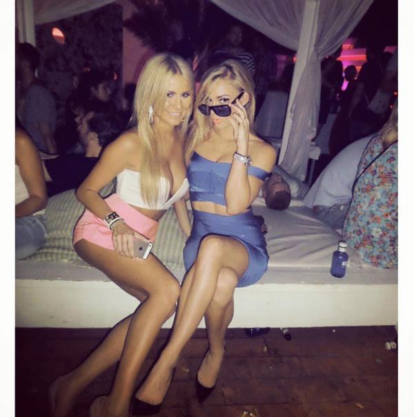 Nikki Leigh Partying
