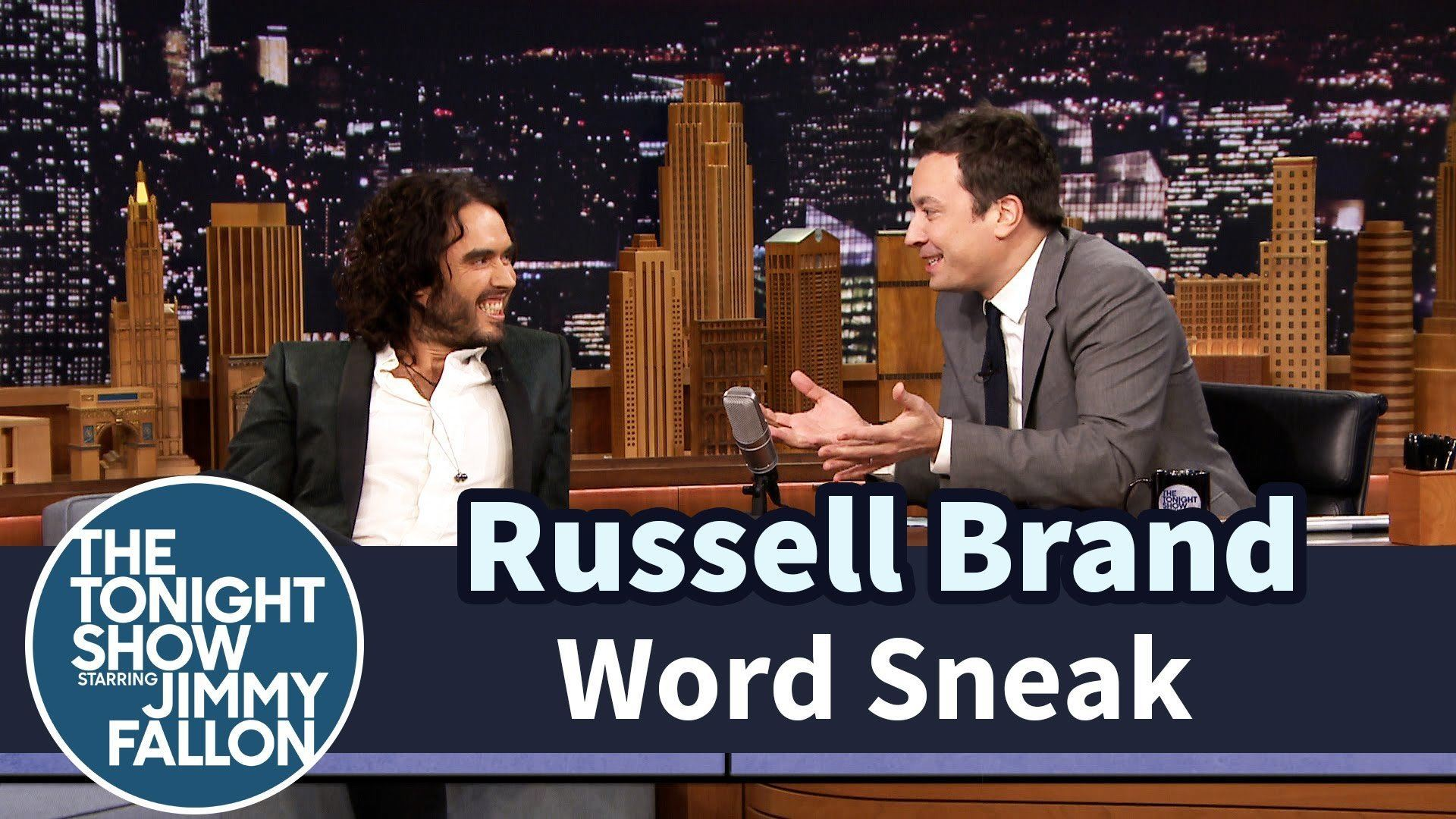 Russell Brand Shines In A Game Of Word Sneak With Jimmy Fallon