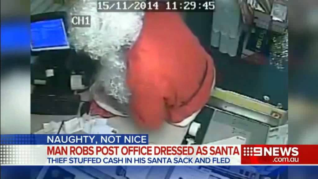 Santa Responds To Budget Cuts In The North Pole By Robbing Post Office