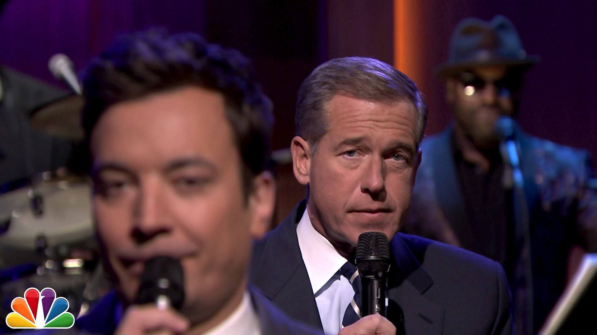 Brian Williams Rocks Out With The Roots And  Jimmy Fallon