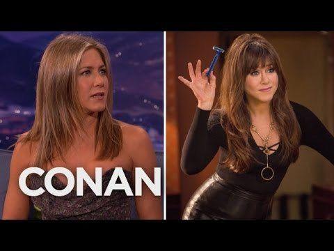Jennifer Aniston Discusses C**k Rings On 'Conan'