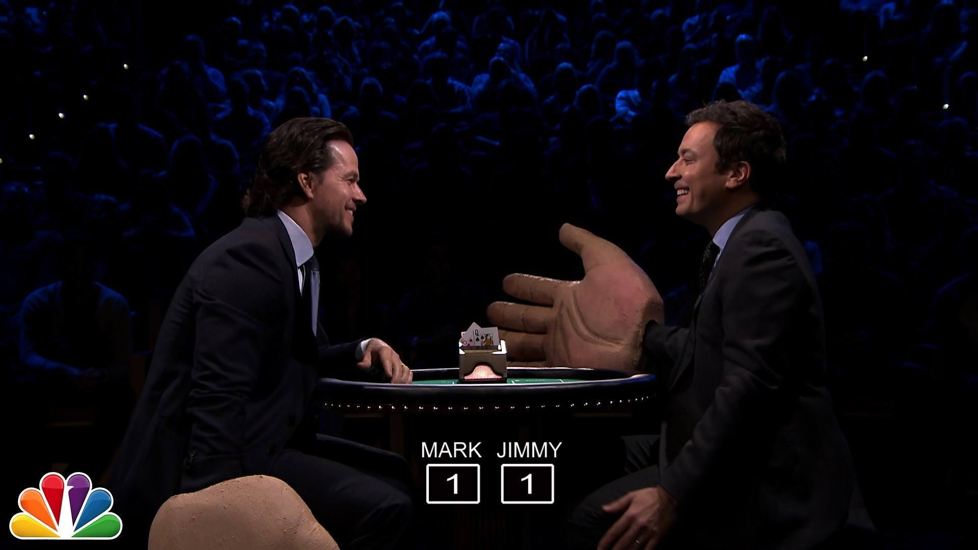 Watch Mark Wahlberg And Jimmy Fallon Slap Each Other With Giant Rubber Hands