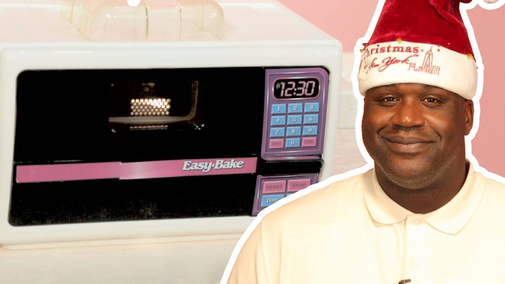 Watch Shaq Cook Your Favorite Dishes With The Easy Bake Oven