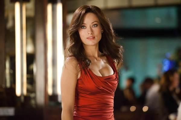Hot Olivia Wilde Tight Red Dress
