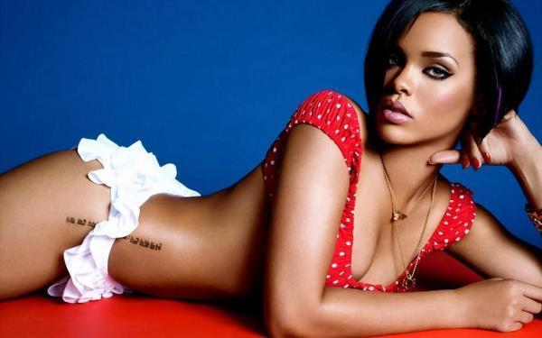 Rihanna Hot Tattoo