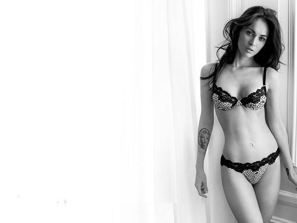 Black And White Megan Fox