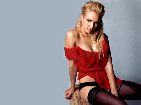 Jessica Alba Stockings