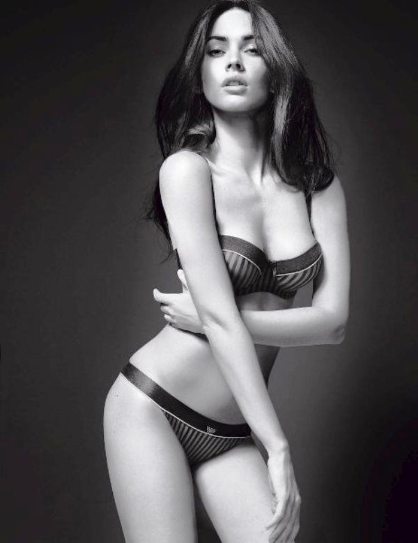 Megan Fox Black And White Photo