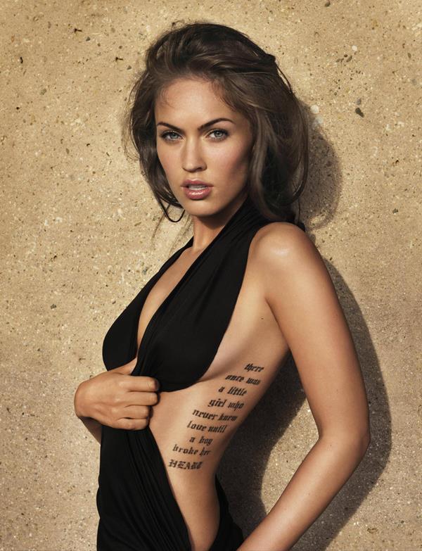 Sexiest Megan Fox Pictures Tattoo