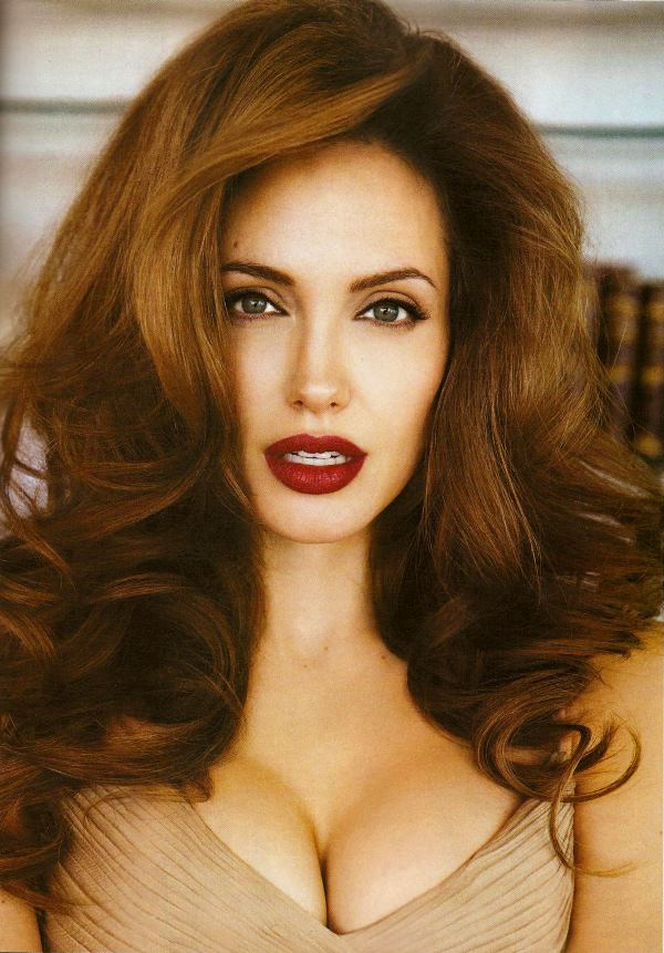 Angelina Jolie As Red Head