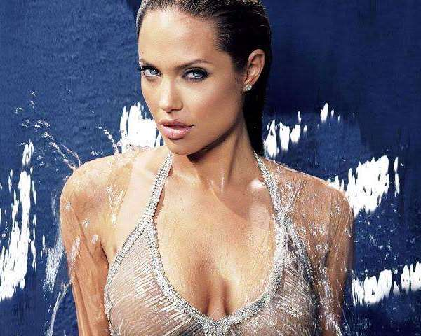 Angelina Jolie Wet No Tee Shirt Contest All People Photo U1