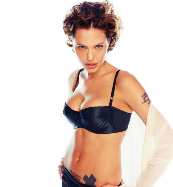 Hot Angelina Jolie Pictures Bra